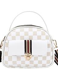 cheap -Women's Bags PU Leather Crossbody Bag Pattern / Print Geometic Daily 2021 Handbags MessengerBag White Blue Yellow