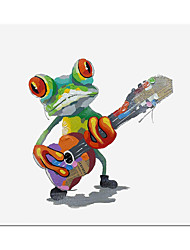 cheap -Frog Oil Painting On Canvas Abstract Contemporary Art Wall Paintings Handmade Painting Home Office Decorations Canvas Wall Art Painting Rolled Canvas(No Frame)
