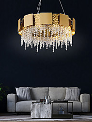 cheap -8-Light 60 cm Chandelier Crystal Painted Finishes Traditional / Classic 110-120V / 220-240V