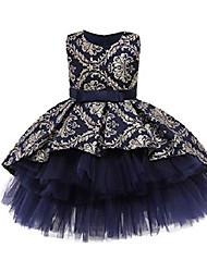 cheap -dress for birthday girl pageant dress little girl wedding dress bergundy flower girl dress ball party dress baby girl dress fancy (navyblue 100)