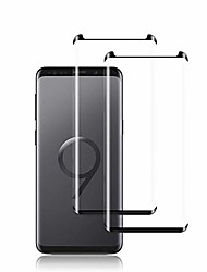 cheap -galaxy s9 screen protector by ye, [2 pack] full coverage tempered glass screen protector [3d touch] [bubble-free] [9h hardness] screen protector glass for samsung galaxy s9