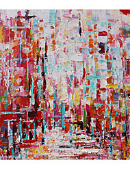 cheap -Oil Painting Hand Painted Square Abstract Landscape Comtemporary Modern Stretched Canvas
