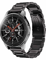 cheap -compatible for samsung galaxy watch bands 46mm, stainless steel band for samsung galaxy watch sm-800 smart watch - black