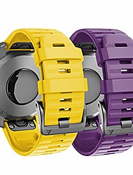 cheap -compatible with fenix 6x bands 2-pack 26mm silicone watch bands replacement for fenix 6x pro/fenix 5x/fenix 5x plus/fenix 3 smartwatches, purple and yellow