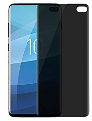 cheap -galaxy s10 plus screen protector privacy [full adhesive] [fingerprint sensor supported]  flexible tempered glass for samsung galaxy s10 plus (6.4'') [0.2mm anti-edge chipping] (s10plus)