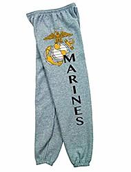 cheap -products marines logo sweatpants, grey, x-large