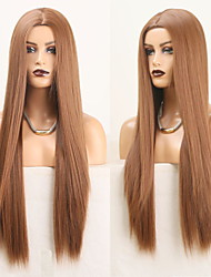cheap -Cosplay Costume Wig Synthetic Wig Straight Natural Straight Middle Part Wig Long Medium Auburn#30 Synthetic Hair Women's Odor Free Fashionable Design Soft Brown / Heat Resistant