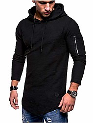 cheap -workout t-shirt hoodie for men - morwebveo fashion athletic hooded soild pullover long sleeve sweatshirt blouse for men black