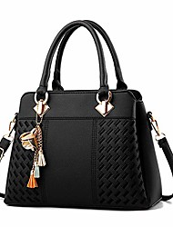 cheap -women top handle handbags elegant ladies shoulder bags tote bags pu leather cross-body bags for work shopping date party christmas