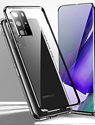 cheap -Magnetic Phone Case For Samsung Galaxy S20 Plus S20 Ultra S20 Double Sided Tempered Glass with Camera Film Aluminium Alloy Metal Bumper 360 Protection HD Clear Cover