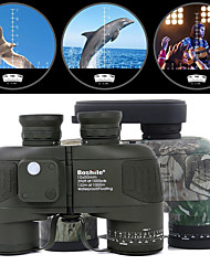 cheap -Boshile 10 X 50 mm Binoculars Range Finder Lenses Waterproof Night Vision in Low Light Compass 132/1000 m Fully Multi-coated BAK4 Camping / Hiking Hunting Fishing Aluminium Alloy / IPX-6