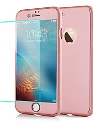 "cheap -for iphone 7 plus case, 3in1 hybird 360 full body protective hard pc slim precise-fit case and tempered glass screen protector dual layer protection case for iphone 7 plus 5.5"" rose gold"