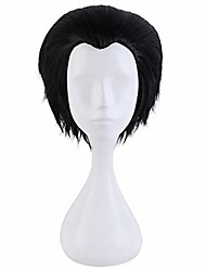 cheap -anime yuri!!! on ice yuri katsuki short black wigs cosplay halloween party costume hair dress,14inch(one size black 01)