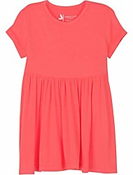 cheap -girls' short sleeve swing dress - upf 50+ protection - coral 3t