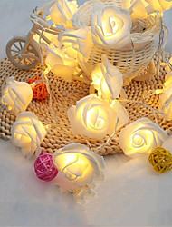 cheap -Fashion Holiday Lighting 20 LED Novelty Rose Flower Fairy String Lights Wedding Garden Party Christmas Decoration
