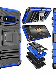 """cheap -njjex case compatible with samsung galaxy s10e 5.8"""" inch, [ngate] armor defender locking holster swivel belt clip kickstand heavy duty full body protective carrying phone cover for galaxy s10e [blue]"""