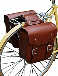 cheap -retro bicycle rack bag leather rear rack bike bags robust rear seatpost bag for retro bicycle saddle rack accessories