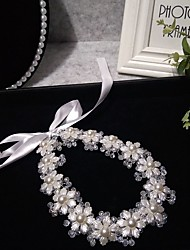 cheap -Headpieces Wedding Basketwork / Beads / Alloy Tiaras / Headbands / Headpiece with Rhinestone / Faux Pearl / Floral 1 Piece Wedding / Party / Evening Headpiece