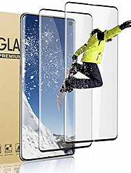 cheap -2 pack Tempered Glass Screen Protector For Samsung Galaxy S21, 9H Hardness 3D curved full coverage case friendly screen glass HD protective film for Samsung Galaxy S21+ S21 Ultra S10 S20 FE S20ultra