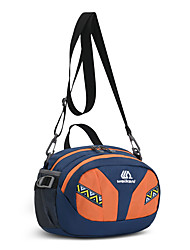 cheap -2 L Hiking Sling Backpack Hiking Waist Bag Breathability Stretchy Outdoor Fitness Hiking Climbing Oxford Orange Green Rose Red