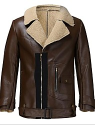 cheap -raf aviator bomber real shearling real sheepskin brown leather jacket (2xl)