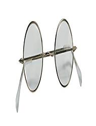 cheap -adult novelty round santa glasses, metallic, one size