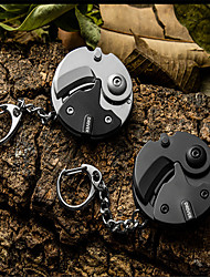 cheap -New Stainless Steel Portable Folding Coin Cutter Tool Black Mini Coin Cutter Key Ring Buckle Key Chain Outdoor Survival Knife