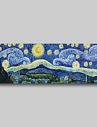 cheap -Hand Painted Van Gogh Museum Quality Oil Painting - Abstract Landscape Starry Night Modern Large Rolled Canvas