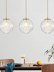 cheap -1/3 Heads LED Pendant Light Nordic Modern Globle Design Glass Painted Finishes Artistic Style 110-120V 220-240V