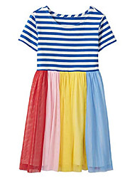 cheap -girls rainbow stripe dress in soft tulle multi - 100