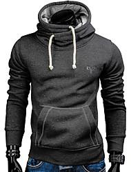 cheap -men solid color kangaroo pocket slim funnel neck full sleeve hoodie, camel l,manufacturer(xxl)