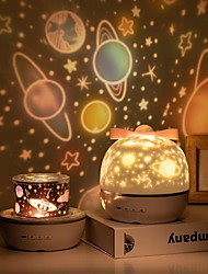 cheap -Star Night Light Projector LED Projection Lamp 360 Degree Rotation 6 Projection Films for Kids Bedroom Home Party Decor