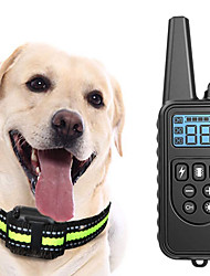 cheap -Dog Training Shock Collar LCD Electric Dog Pets Reflective Trainer Anti Bark Rechargable Behaviour Aids Obedience Training For Pets