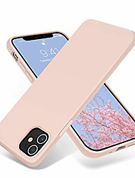 cheap -compatible with iphone 12 mini case 5.4 inch(2020),[silky and soft touch series] premium soft liquid silicone rubber full-body protective bumper case