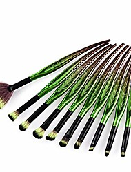 cheap -makeup brush set leaf shape makeup brush set tools make-up toiletry kit nylon cosmetic brush eye brush 10pcs (color : 10-piece)