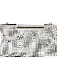 cheap -Women's Bags Polyester Alloy Evening Bag Glitter Crystals Rhinestone Fashion Wedding Bags Wedding Party Black Gold Silver