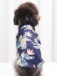 cheap -Dog Cat Shirt / T-Shirt Palm Leaf Fashion Casual / Sporty Casual / Daily Dog Clothes Puppy Clothes Dog Outfits Breathable White Red Pink Costume for Girl and Boy Dog Cotton XS S M L XL XXL
