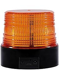 cheap -wireless led strobe light, amber emergency magnetic flashing warning beacon for truck vehicle with 12-24v cigarette lighter plug