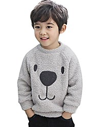 cheap -unisex baby blouse vovotrade toddler winter cute cartoon warm cotton sweatshirt boys girls round neck long sleeve soft pullover (90 (12-18months), grey)