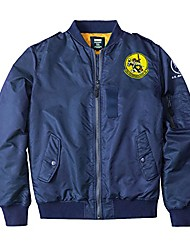 cheap -embroidery style tide brand men's bomber jacket winter outerwear blue