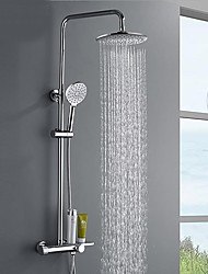 cheap -Shower System / Rainfall Shower Head System / Thermostatic Mixer valve Set - Handshower Included Rainfall Shower Multi Spray Shower Contemporary Mount Outside