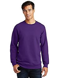 cheap -port & company fan favorite fleece crewneck sweatshirt. pc850 team purple s