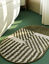 cheap -Bathroom Absorbent Non-slip Mats, Home Entrance Mats, Green and Blue, Bedroom Door Home Oval Mats