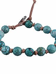 cheap -new labradorite beaded strand bracelet handamade handwoven red agate wrap bracelet bangle (green)