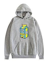 cheap -lyrical lemonade pullover hoodie long sleeve street real music hip hop casual hoodie basic plus size for men pullover hooded sweatershirt black white