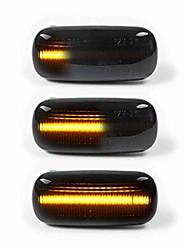 cheap -2pcs dynamic amber led side marker turn signal light compatbile for audi a4 s4 b6 b7 a6 c5 tt a8, replace oem side marker light