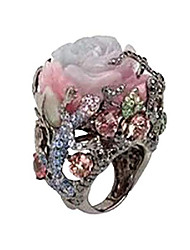 cheap -fedulk womens dazzling natural ruby diamond engagement antique ladies gifts light luxury rings (7, multicolor)