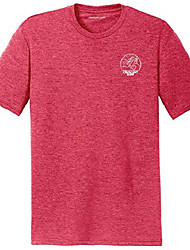 cheap -crescent surf mens crashing waves logo perfect tri-blend tee-s-redfrost/w