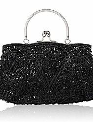 cheap -ladies evening bag,handmade evening party clutch bag ladies clutch bag bridal wedding party purse handbag shoulder bag for women (purple)