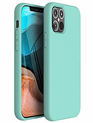 cheap -zuslab nano silicone compatible with iphone 12/ iphone 12 pro case 2020 liquid silicone rubber shockproof soft full protection case - mint